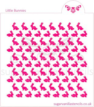 Little Bunnies Cookie Stencil