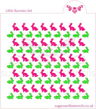 LIttle Bunnies Cookie Stencil Set (2 piece)