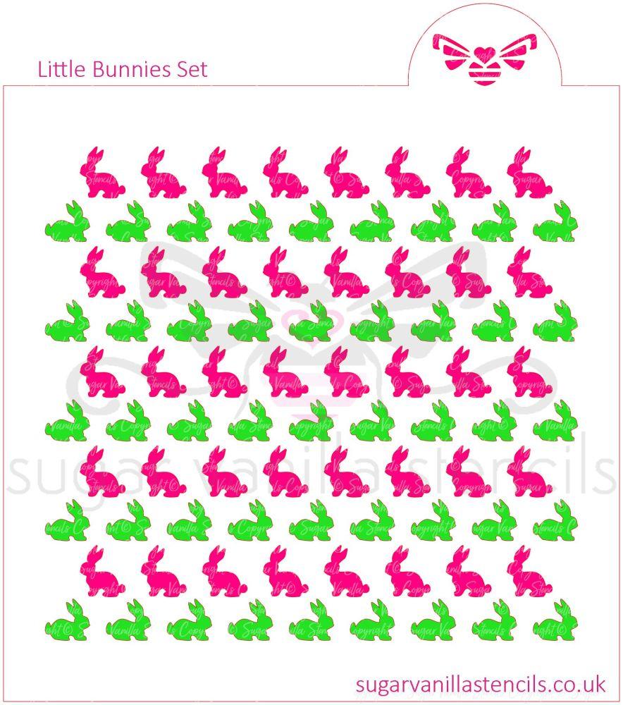 LIttle Bunnies Cookie Stencil Set (2 piece)