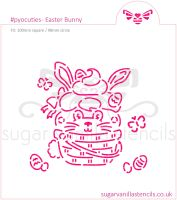 Easter Bunny PYO Cookie Stencil  (available in five sizes)