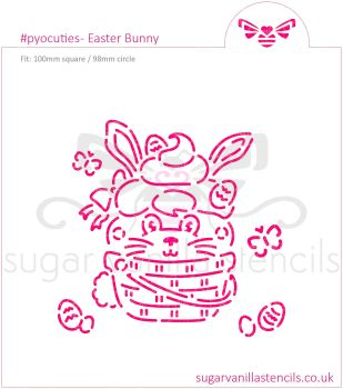 Easter Bunny PYO Cookie Stencil