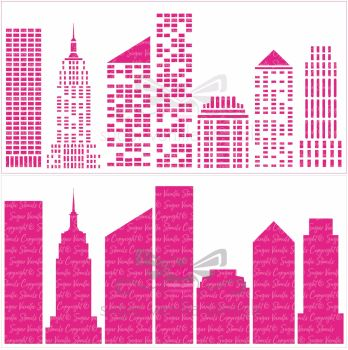 New York Skyline - 2 part stencil
