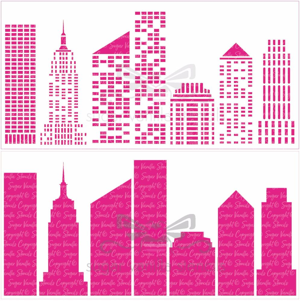 New York Skyline - 2 part stencil