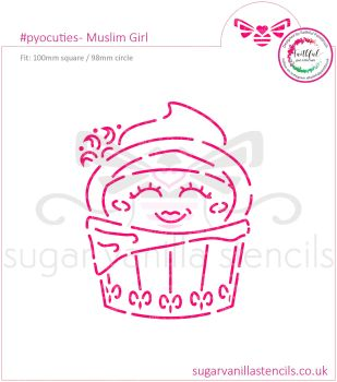 Muslim Girl PYO Cookie Stencil