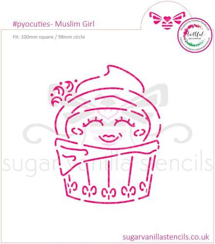 Muslim Girl PYO Cookie Stencil