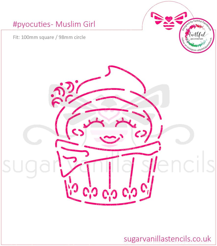 Muslim Girl PYO Cookie Stencil  (available in five sizes)