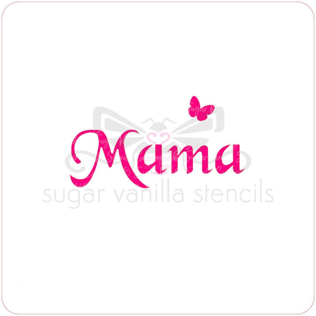 Mama Cupcake Stencil
