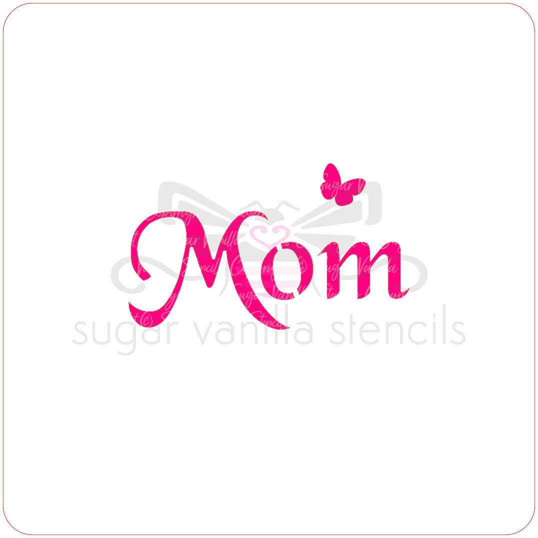 Mom Cupcake Stencil