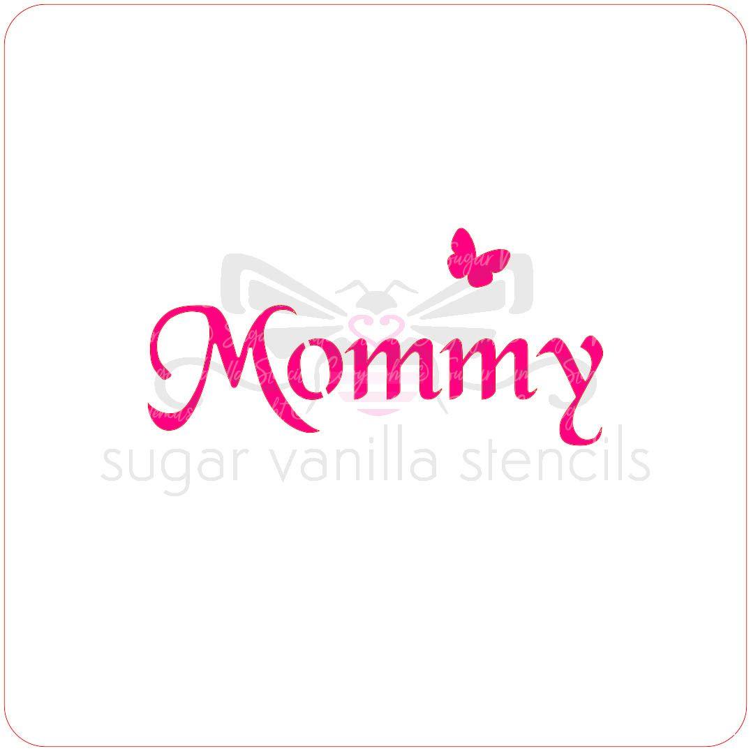 Mommy Cupcake Stencil