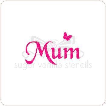 Mum Cupcake Stencil