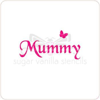 Mummy Cupcake Stencil