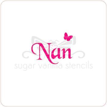 Nan Cupcake Stencil