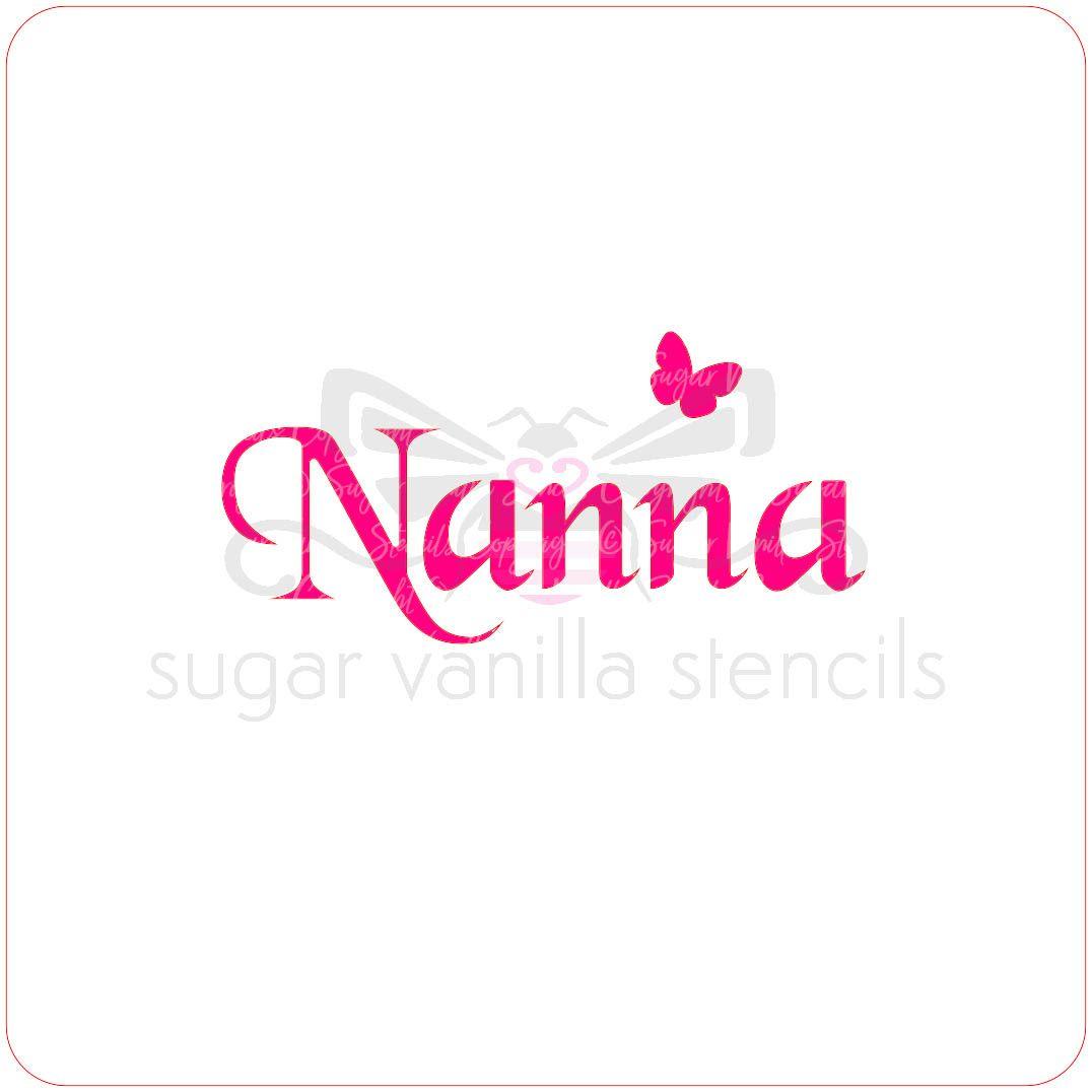 Nanna Cupcake Stencil