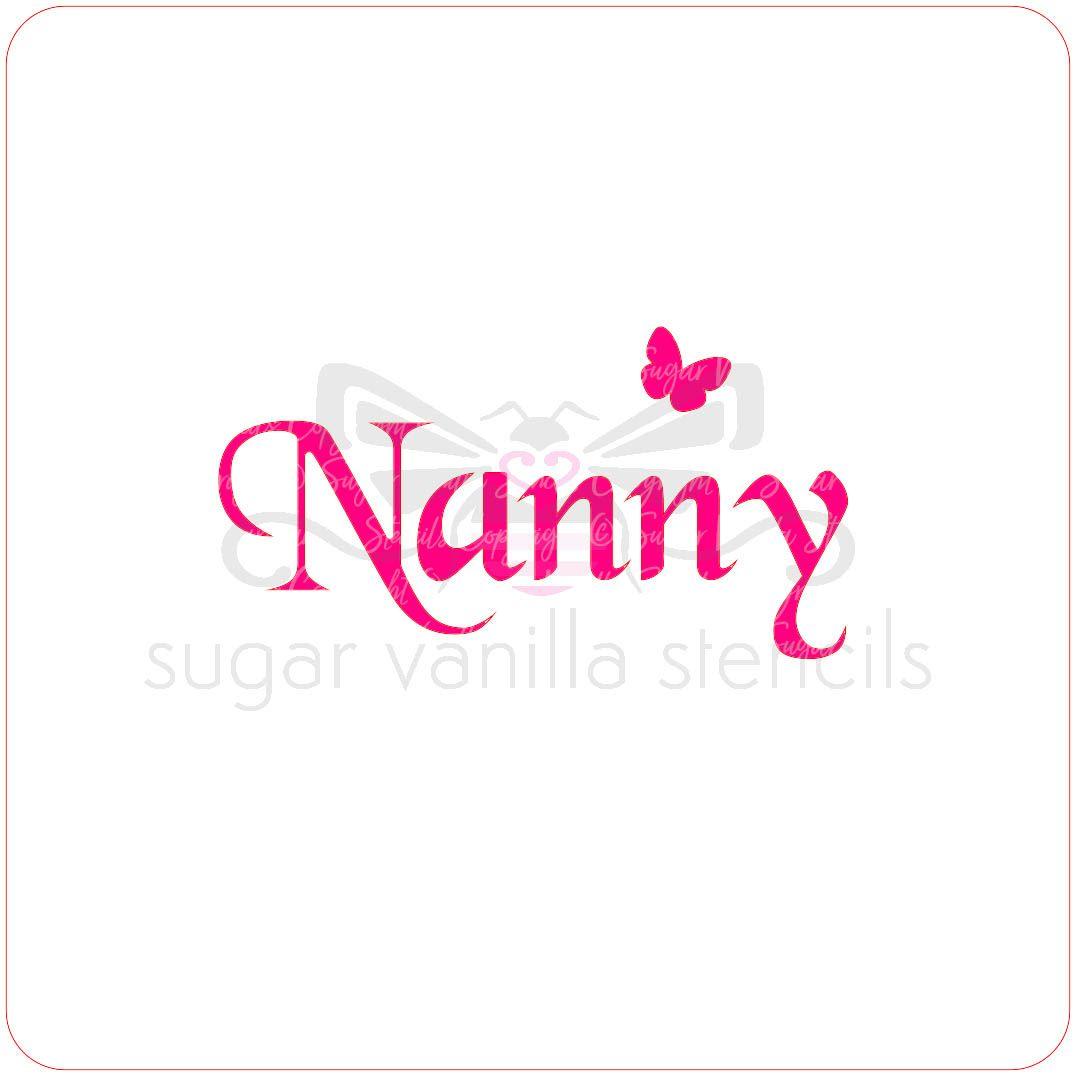 Nanny Cupcake Stencil