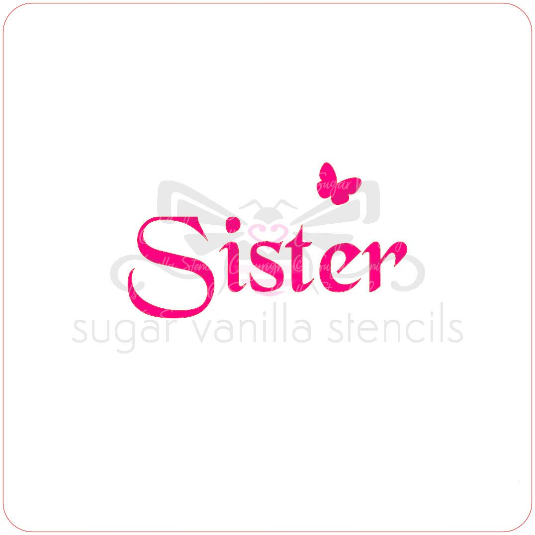 Sister Cupcake Stencil