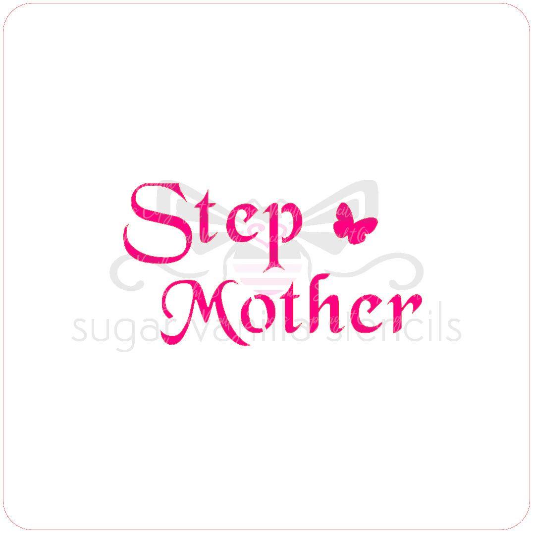 Stepmother Cupcake Stencil