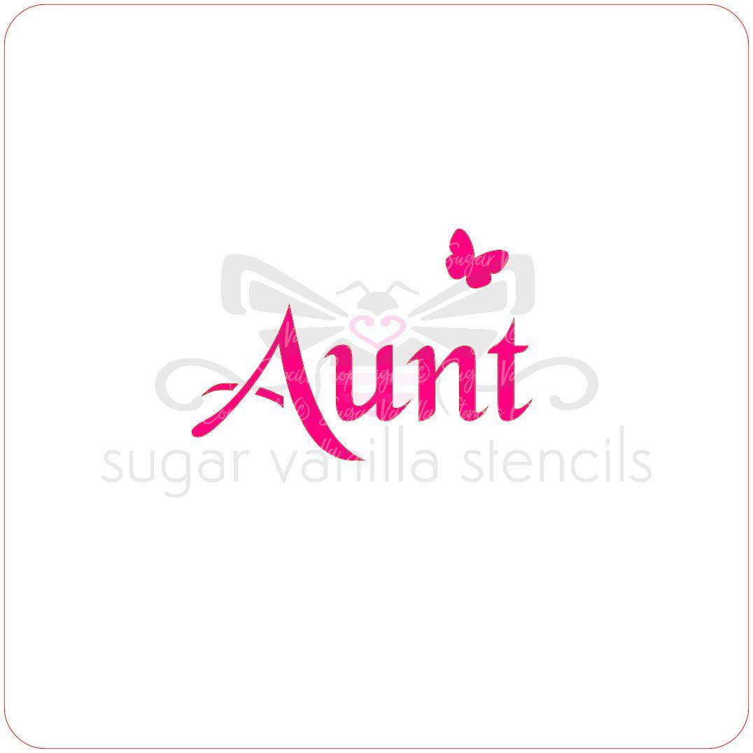 Aunt Cupcake Stencil