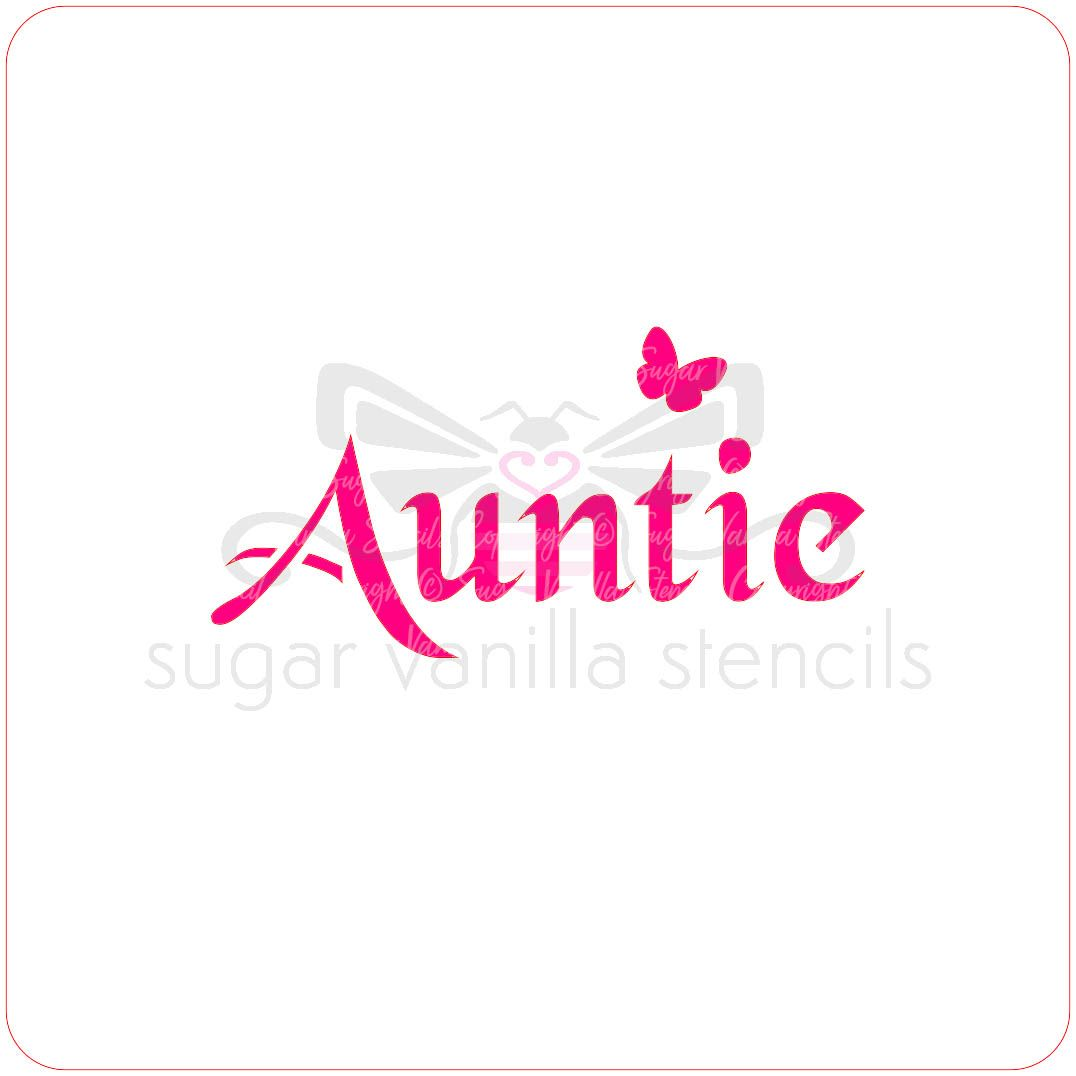 Auntie Cupcake Stencil