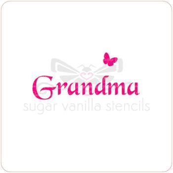 Grandma Cupcake Stencil
