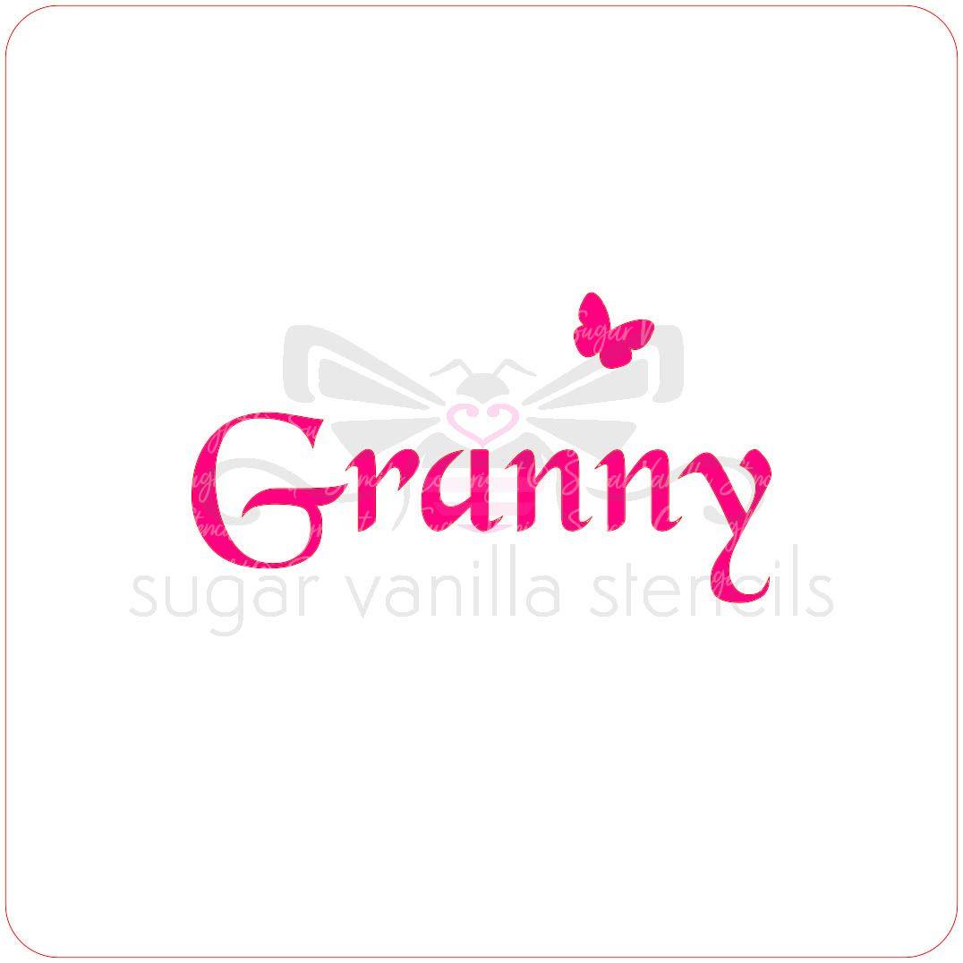 Granny Cupcake Stencil