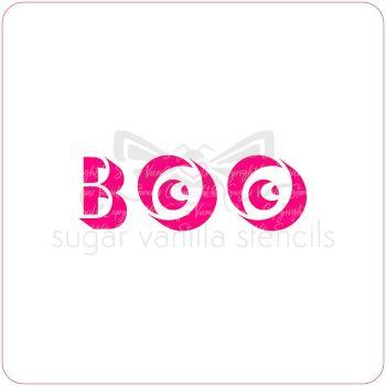 Boo Eyes! Cupcake Stencil