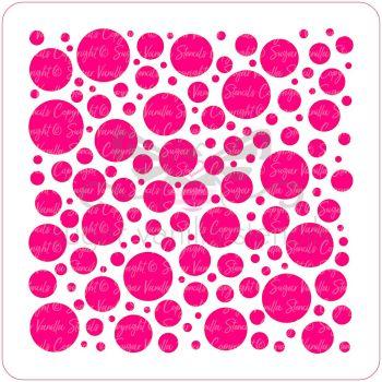 Spots Cupcake Stencil