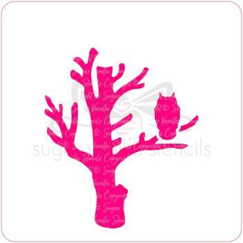Spooky Owl Cupcake Stencil
