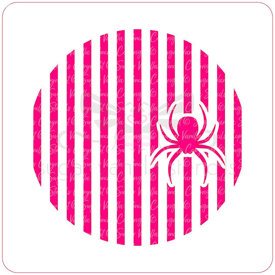 Spider Stripes Cupcake Stencil