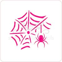 Spider and Web Cupcake Stencil
