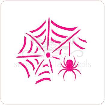 Spider and Web Cupcake Stencil