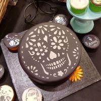 Sugar Skull Cake Top Stencil (8