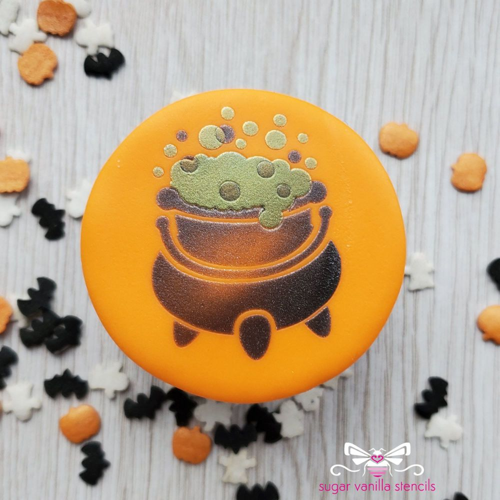 Cauldron Cupcake Stencil Set (Double Stencil)