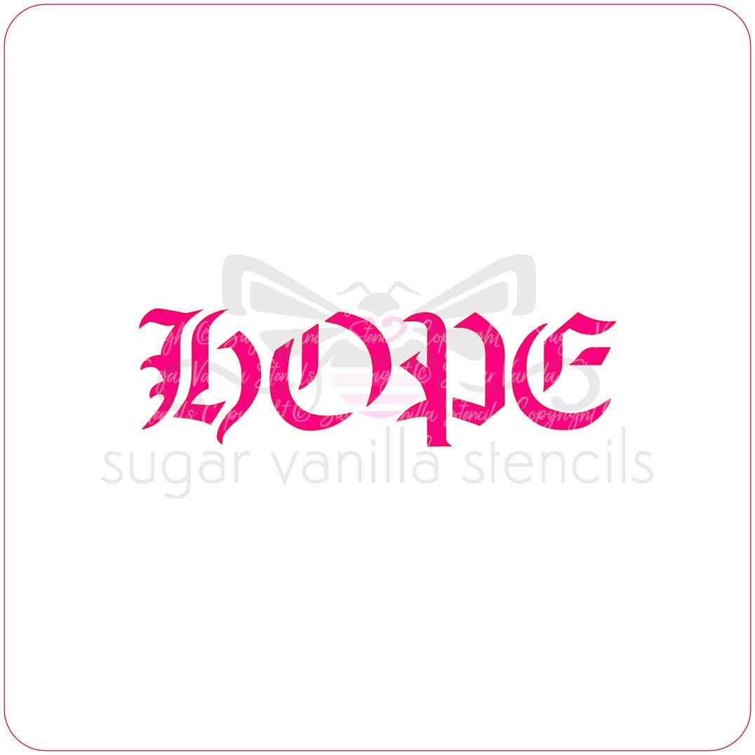 Hope Cupcake Stencil