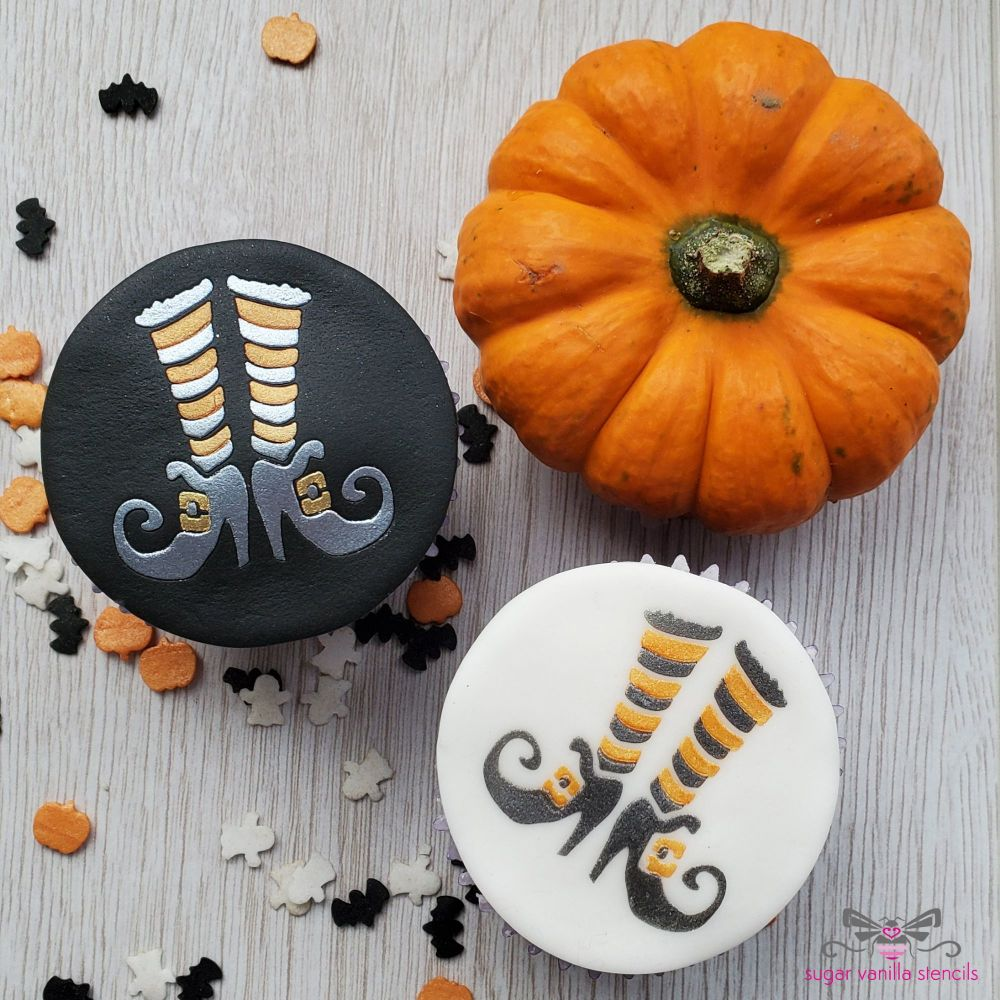 Witch Boots Cupcake Stencil Set (Double Stencil)