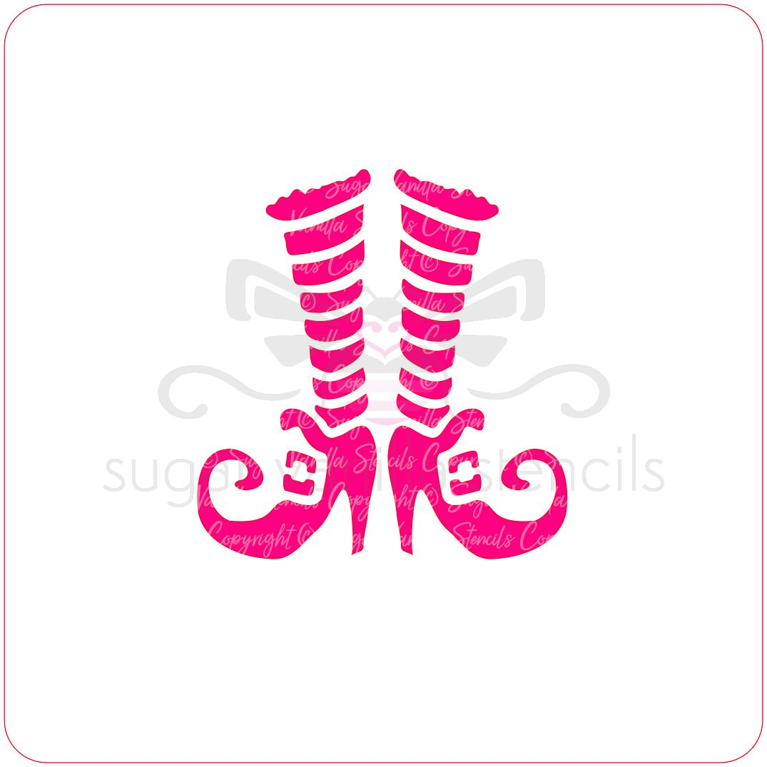 Witch Boots Cupcake Stencil