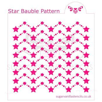 Star Bauble Pattern Cookie Stencil