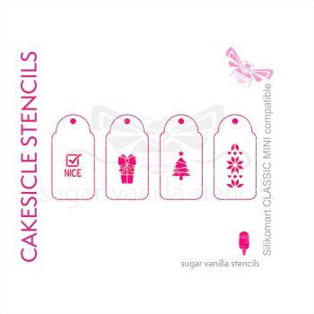 'Xmas Tree' Christmas Cakesicle Stencil Set - Small