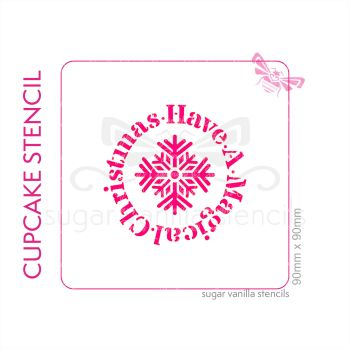 Have a Magical Christmas Cupcake Stencil