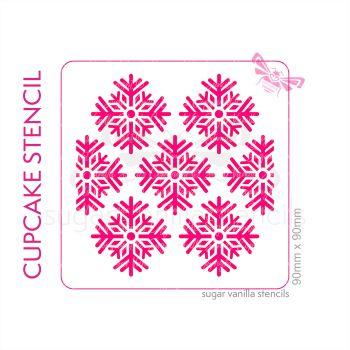 Magical Snowflake Cupcake Stencil