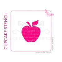 Apple Cupcake Stencil