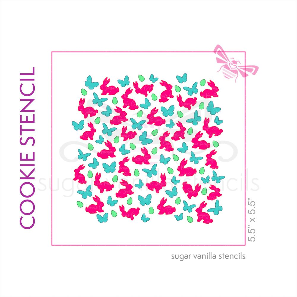 Easter Spring Cookie Stencil Set (3 piece)