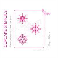 Cupcake Set - Snowflakes