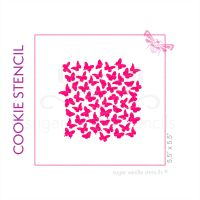 Flutterbys Cookie Stencil - Small
