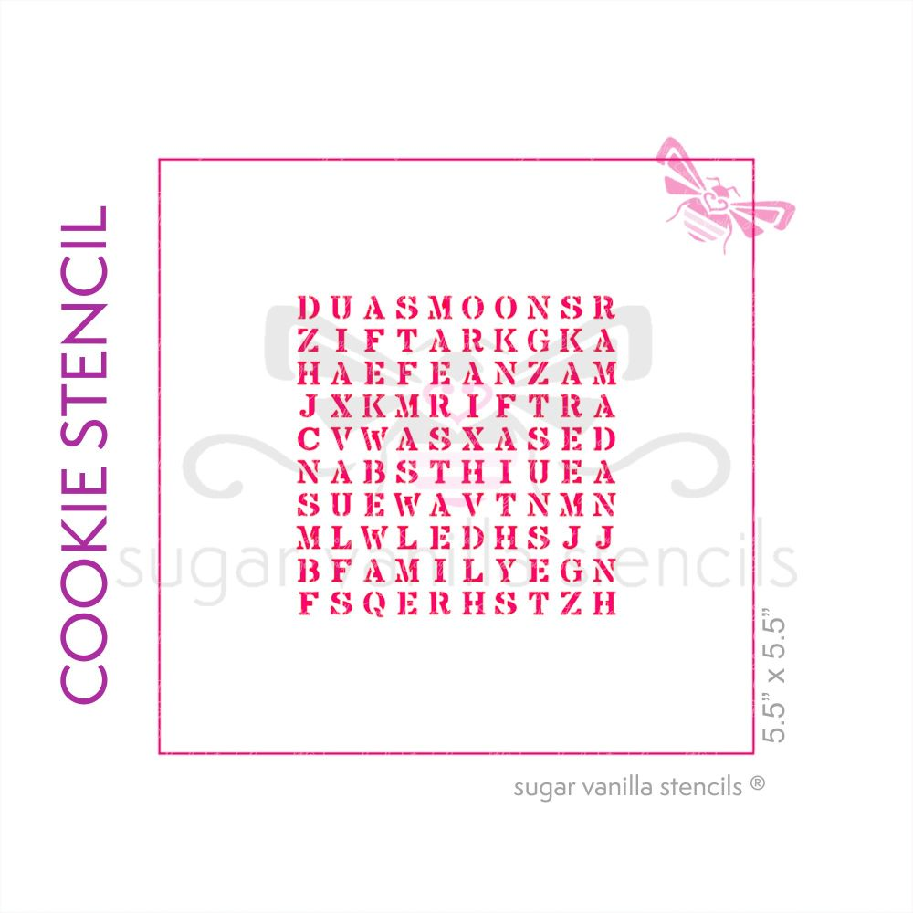 Eid Wordsearch Cookie Stencil