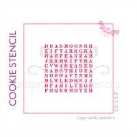 Eid Wordsearch Cookie Stencil