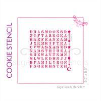 Eid Wordsearch Cookie Stencil - Hanging Lanterns and Crescent