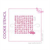 Eid Mubarak Wordsearch Cookie Stencil - Side