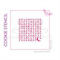 Eid Wordsearch Cookie Stencil - Crescent