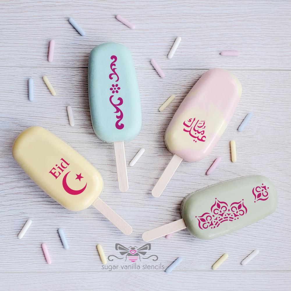 """Crescent"" Eid Cakesicle Stencil Set #5 - LARGE"