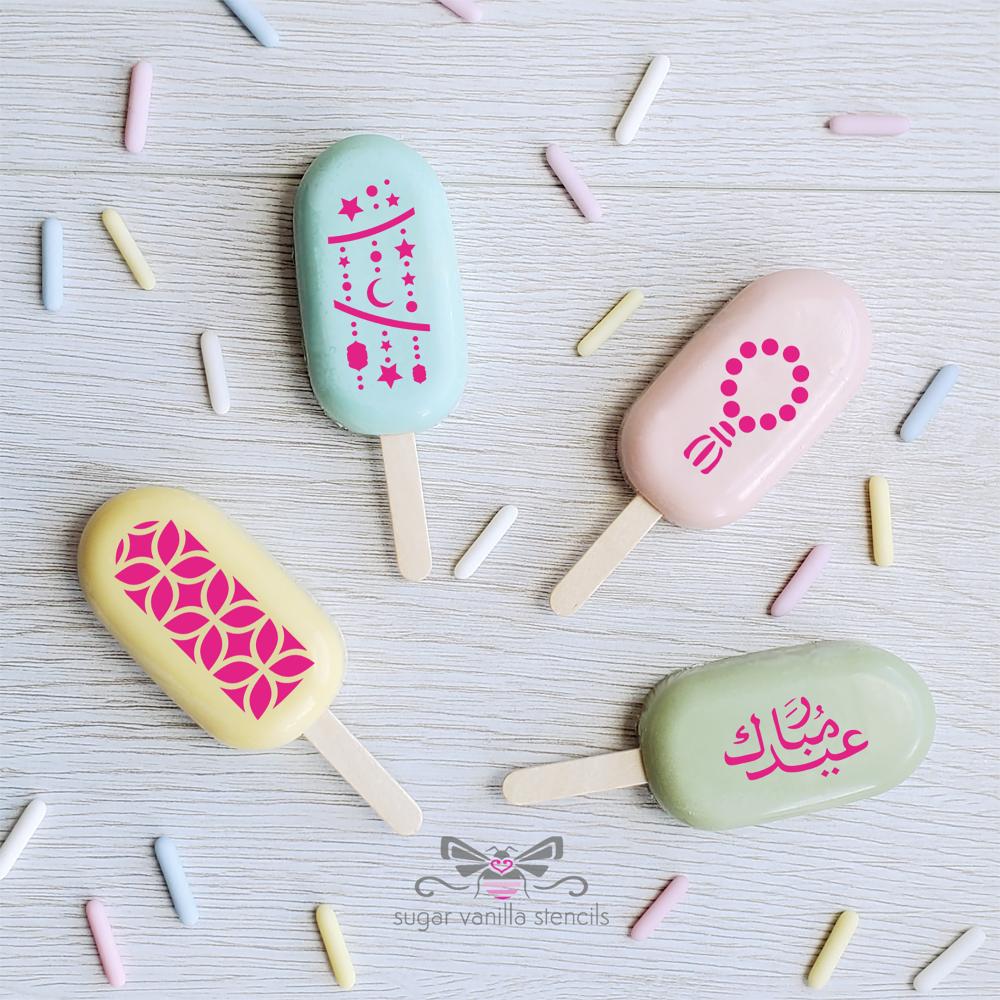 """Prayer Beads"" Eid Cakesicle Stencil Set #2 - SMALL"
